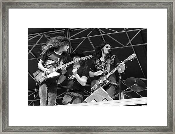 Lynyrd Skynyrd Performs Live Framed Print