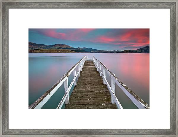 Lyttelton Harbour Jetty Framed Print