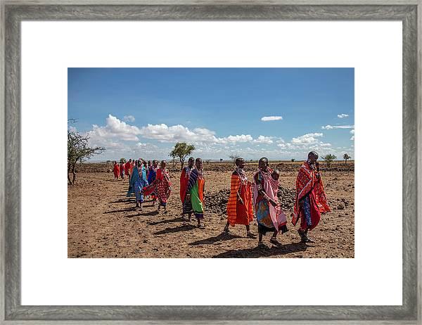 Maasi Women Framed Print