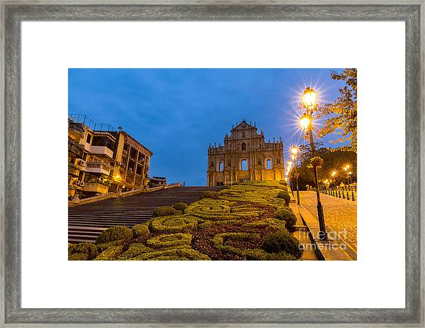 Macau Ruins Of St. Pauls. Built From Framed Print