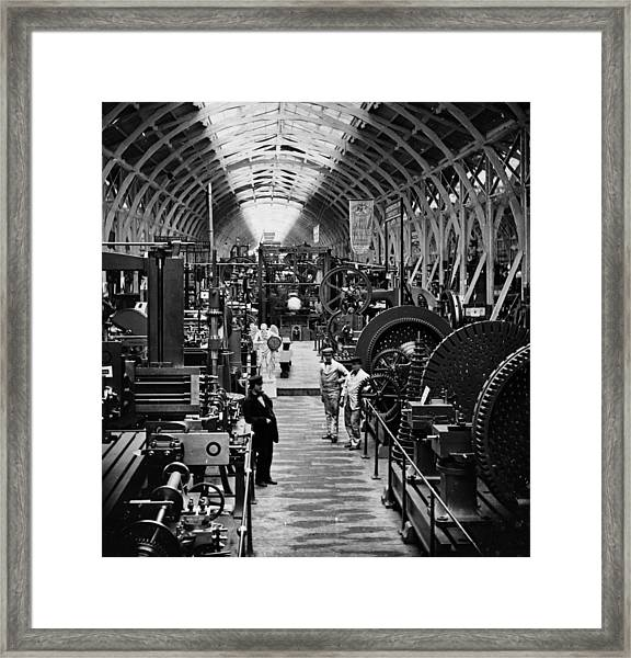 Machinery Exhibits Framed Print