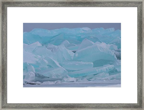 Mackinaw City Ice Formations 21618010 Framed Print