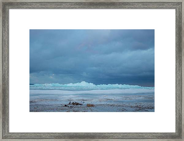 Mackinaw City Ice Formations 21618011 Framed Print