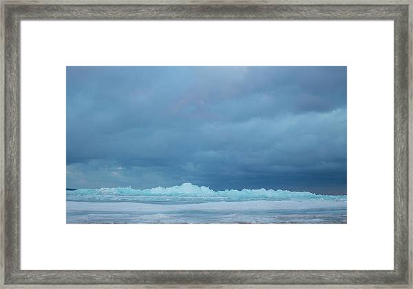 Mackinaw City Ice Formations 21618012 Framed Print