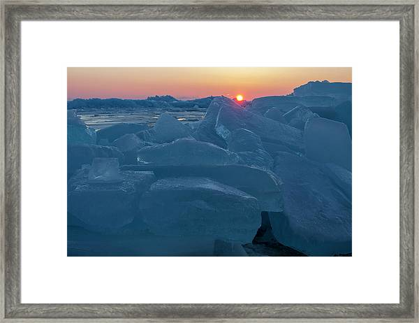 Mackinaw City Ice Formations 21618013 Framed Print