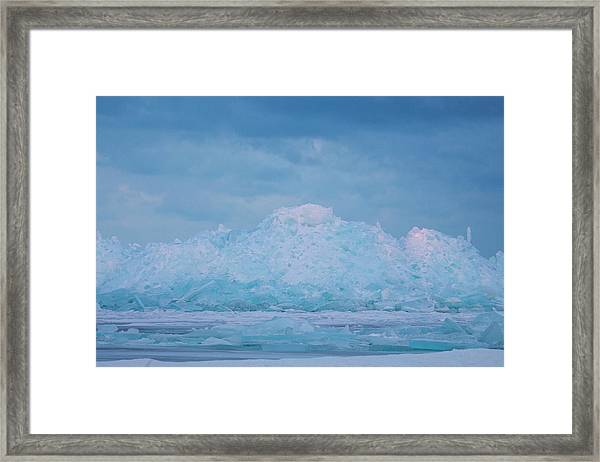 Mackinaw City Ice Formations 2161802 Framed Print