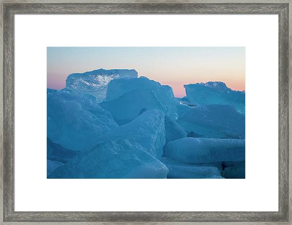 Mackinaw City Ice Formations 2161804 Framed Print