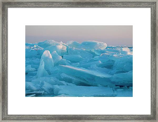 Mackinaw City Ice Formations 2161807 Framed Print