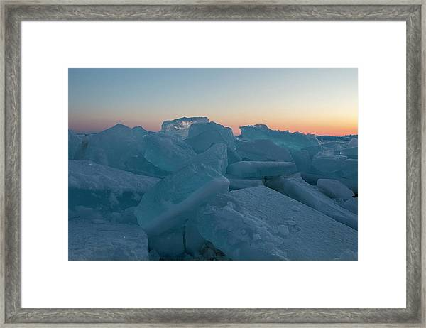 Mackinaw City Ice Formations 2161808 Framed Print