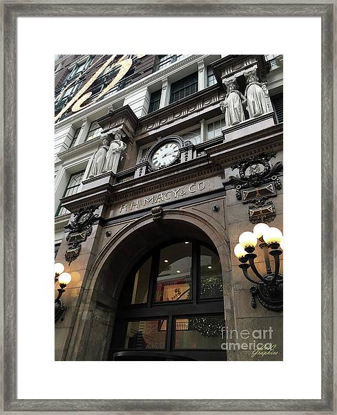 Macys Herald Square Nyc Framed Print