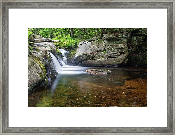 Mad River Falls Framed Print