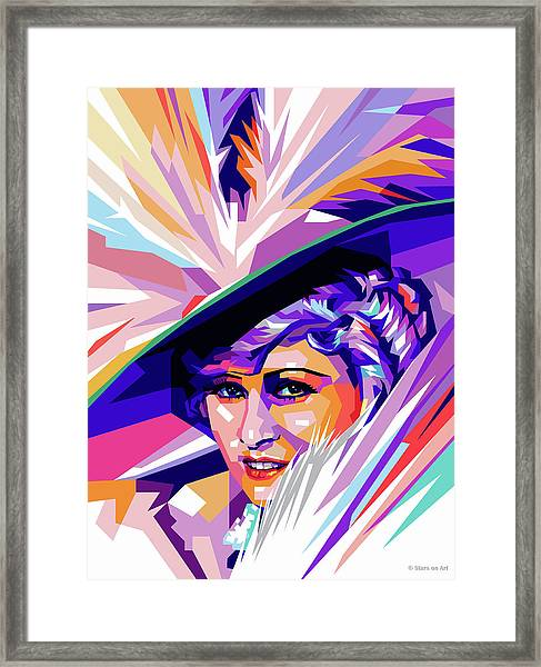 Mae West Pop Art Framed Print
