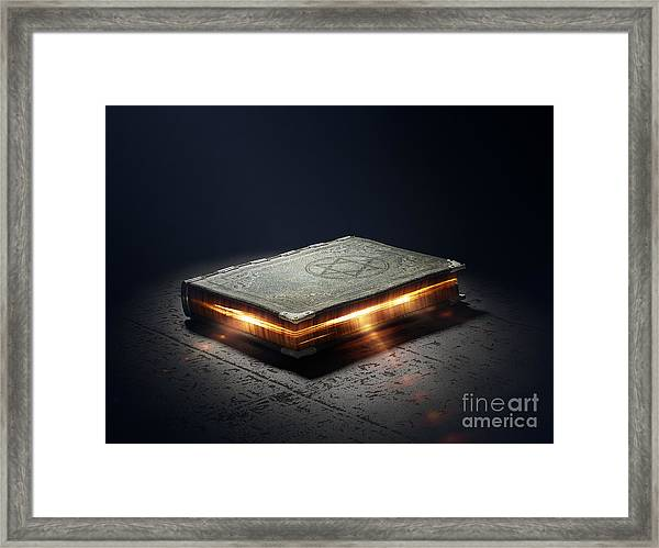 Magic Book With Super Powers - 3d Framed Print