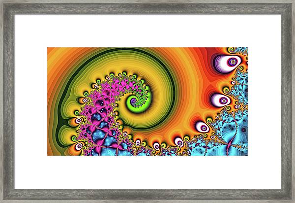 Magic Hook Orange Art Framed Print