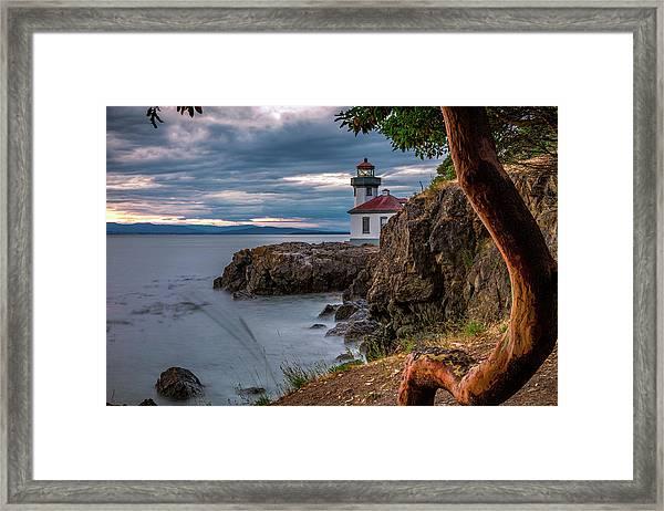 Magic Sunset - Lime Kiln Light Framed Print