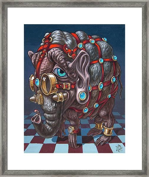 Magical Many-eyed Elephant Framed Print