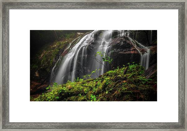 Magical Mystical Mossy Waterfall Framed Print