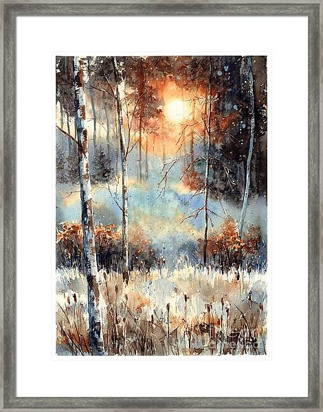 Magical Sun Framed Print