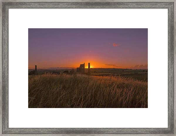 Magpie Mine Sunset Framed Print