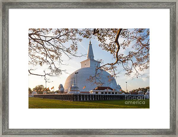 Mahatupa Big Dagoba In Anuradhapura At Framed Print