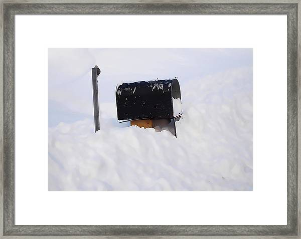 Mailboxes Covered In Snow 3 Framed Print