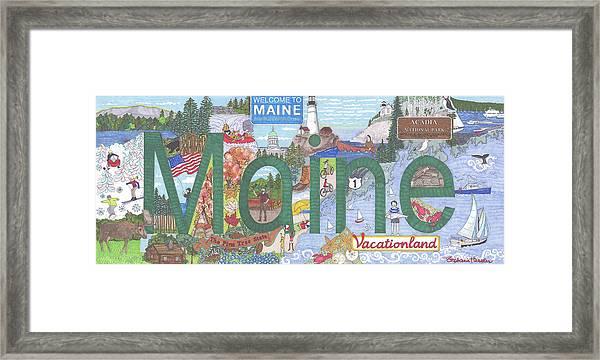 Maine Framed Print