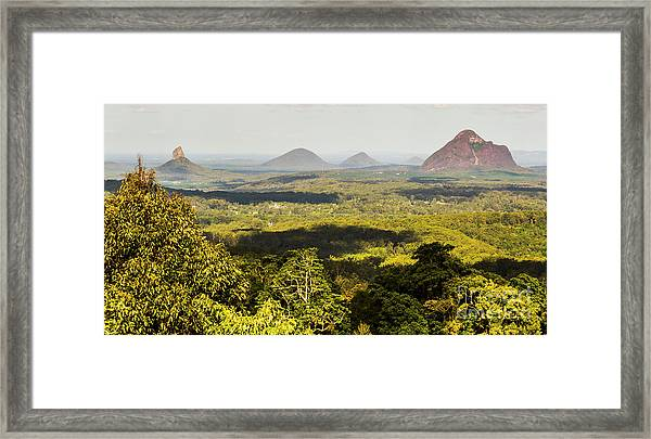 Majestic Maleny And Beyond Framed Print