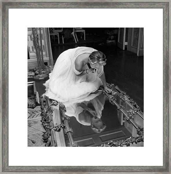 Make Up Mirror Framed Print