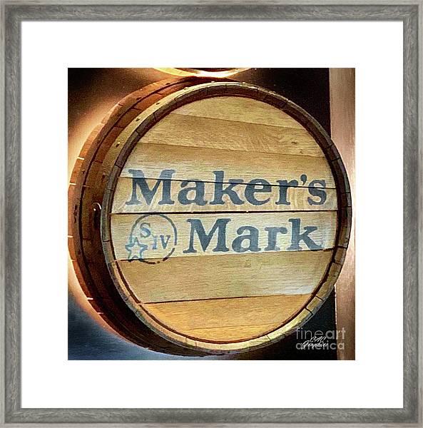 Makers Mark Barrel Framed Print