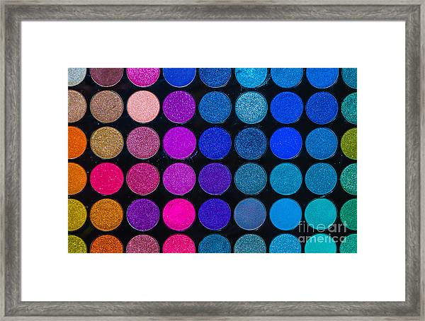 Makeup Colors Framed Print