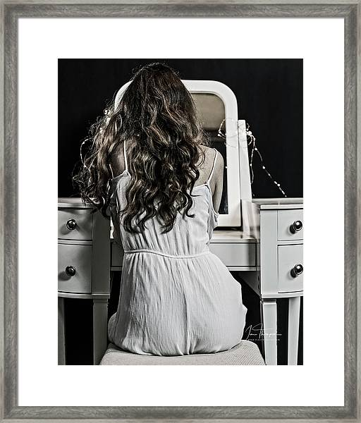 Makeup Time Framed Print by Jim Thompson