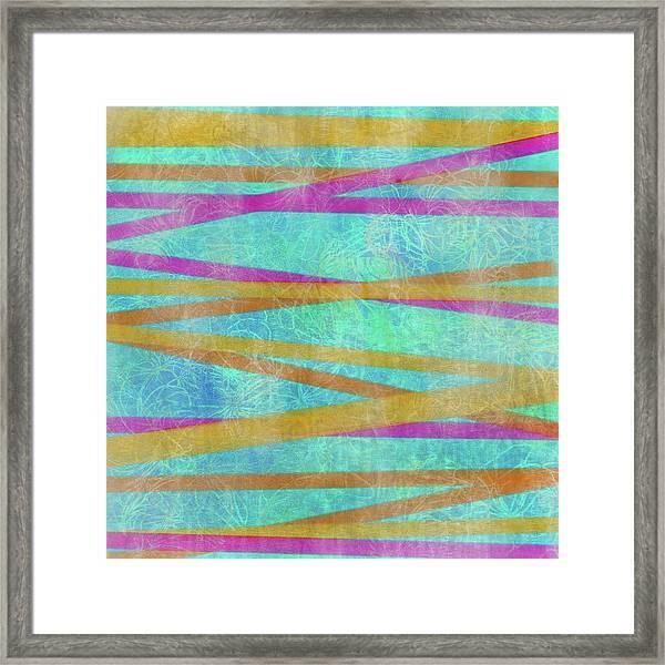 Malaysian Tropical Batik Strip Print Framed Print