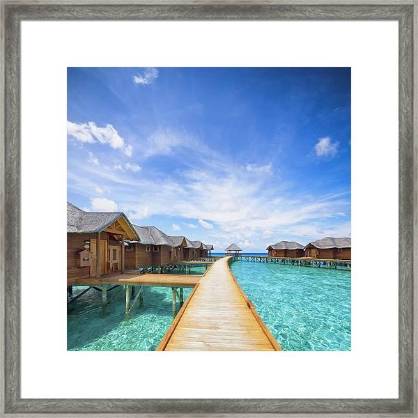 Maldives Boardwalk Framed Print