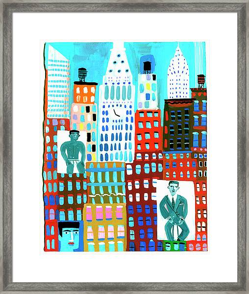 Male Fashion Models On Advertising Framed Print by Christopher Corr