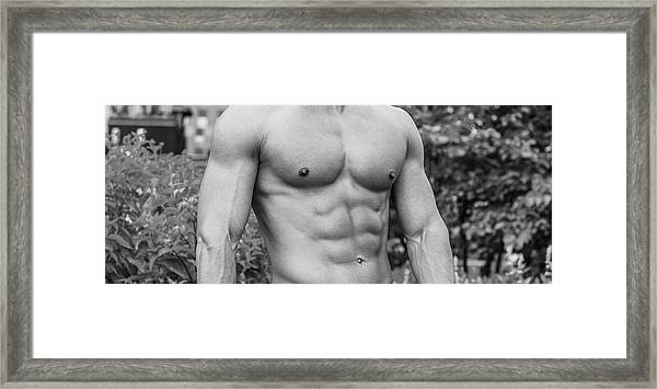 Framed Print featuring the photograph Male Torso 2 by Alexander Image