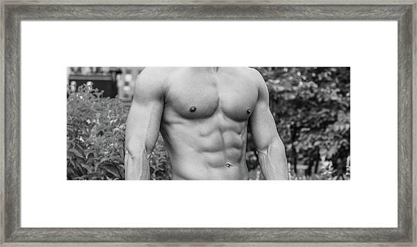 Male Torso 2 Framed Print