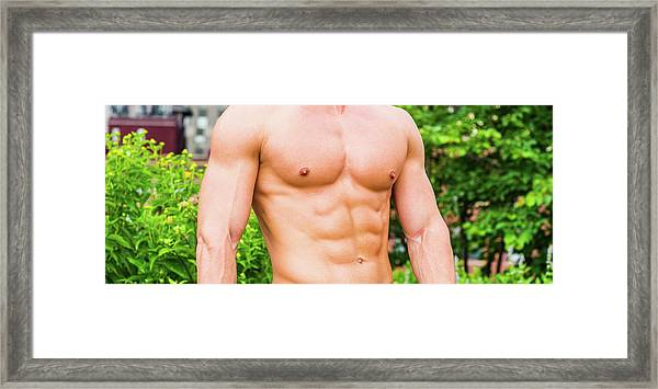 Framed Print featuring the photograph Male Torso 3 by Alexander Image