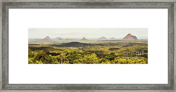 Maleny To The Glass House Mountains Framed Print