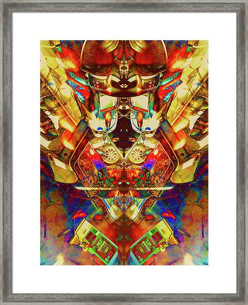 Mamma Bears Pinball Framed Print