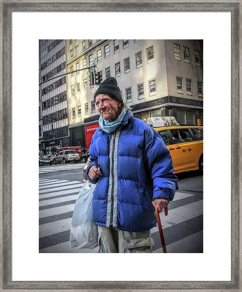 Man Vs. City Framed Print
