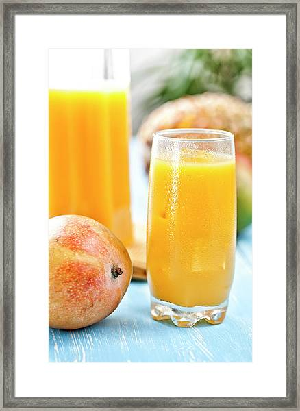Mango Juice Framed Print