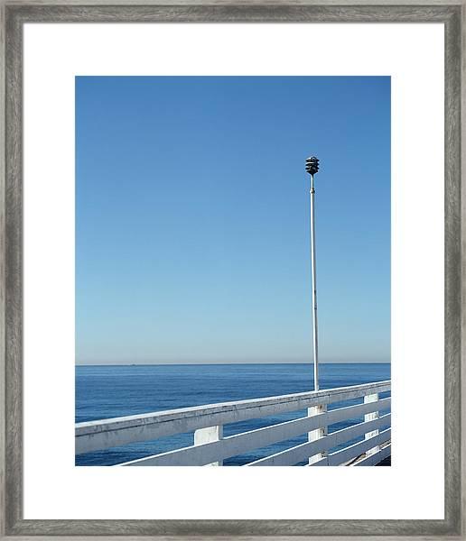 Manhattan Beach Pier, California, Usa Framed Print