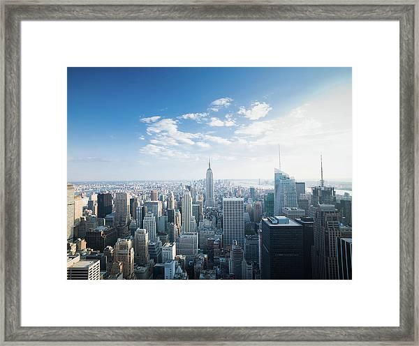 Manhattan New York City Skyline Framed Print