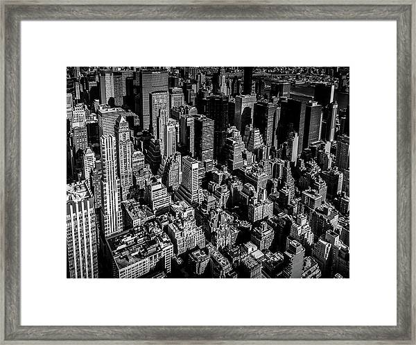 Manhattan Rooftop View Framed Print
