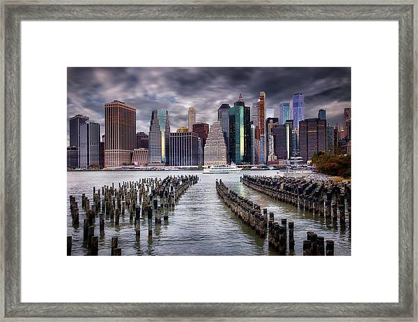 Manhattan Skyline Framed Print