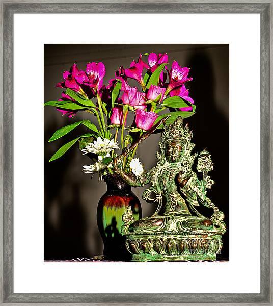 Manjushri- Bodhisattva Of Wisdom Framed Print