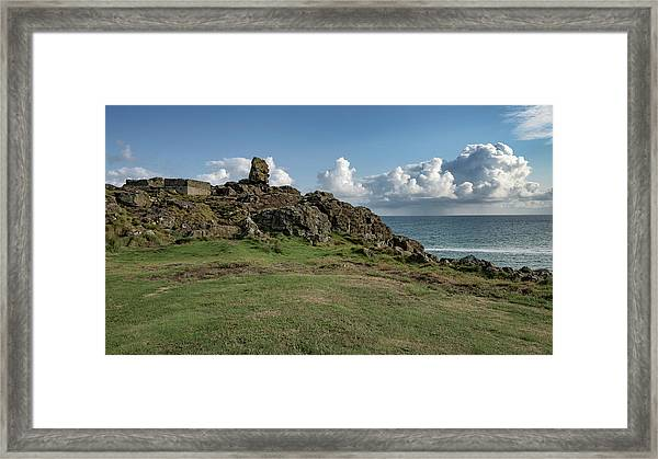 Man's Head - St Ives Cornwall Framed Print