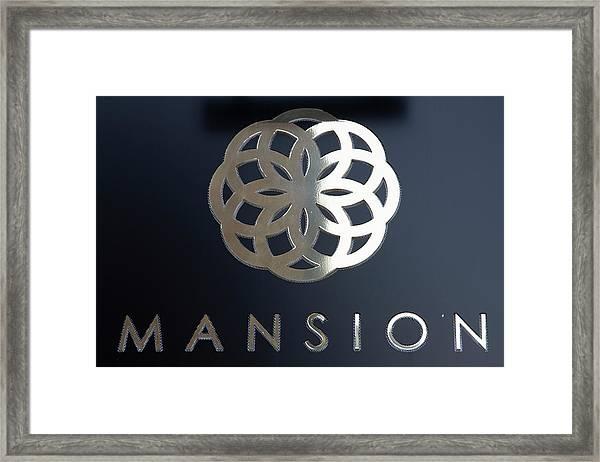 Colours. Mansion Black Framed Print