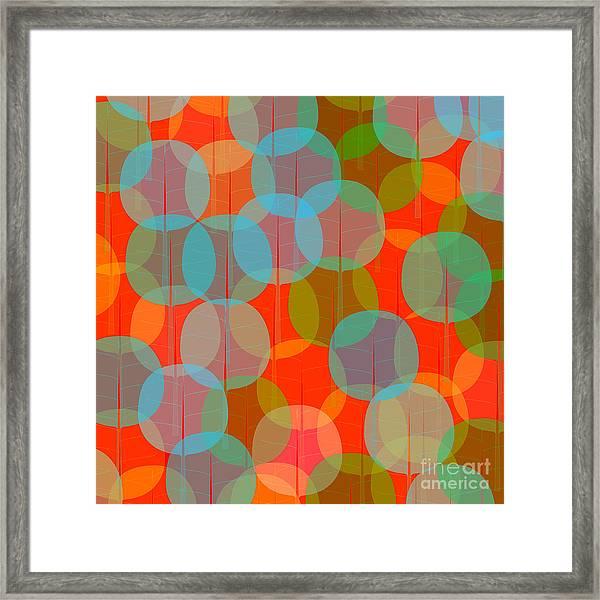 Many Coloured Balls In Pattern On Black Framed Print