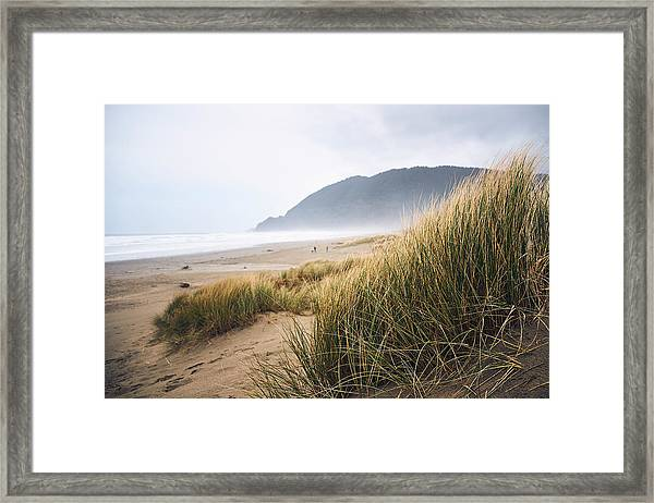 Framed Print featuring the photograph Manzanita Beach by Whitney Goodey